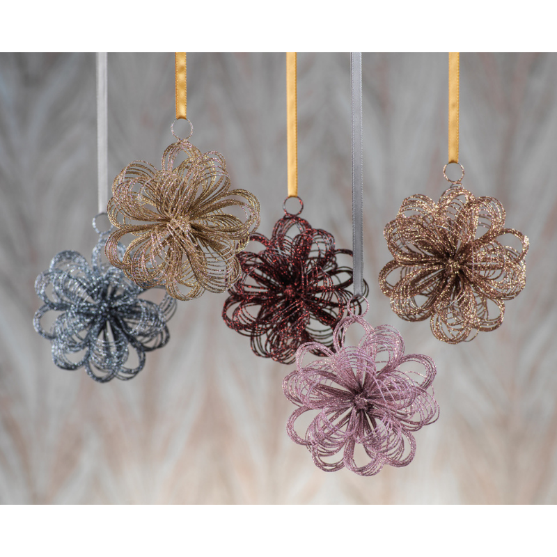 Oval Loop Ornament - 5 Colors