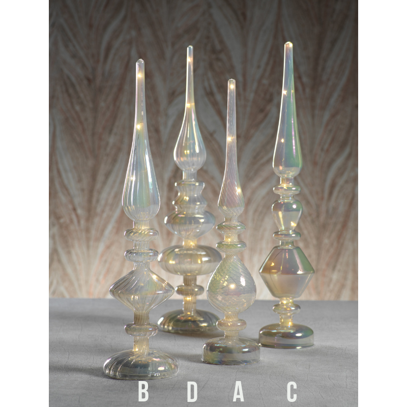 LED Glass Finial - Luster Cloud