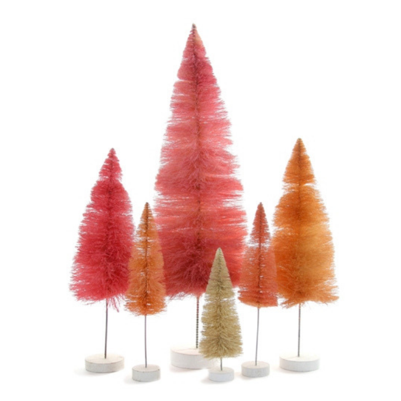Set of 6 Rainbow Trees - Pink