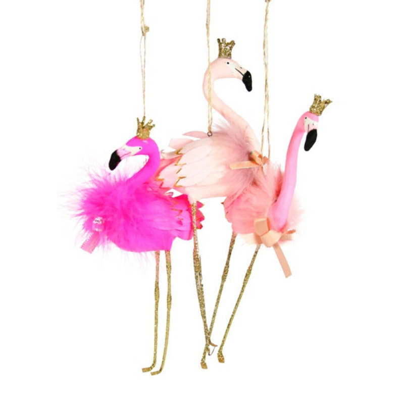Assorted Flamingo Ornaments - CARLYLE AVENUE