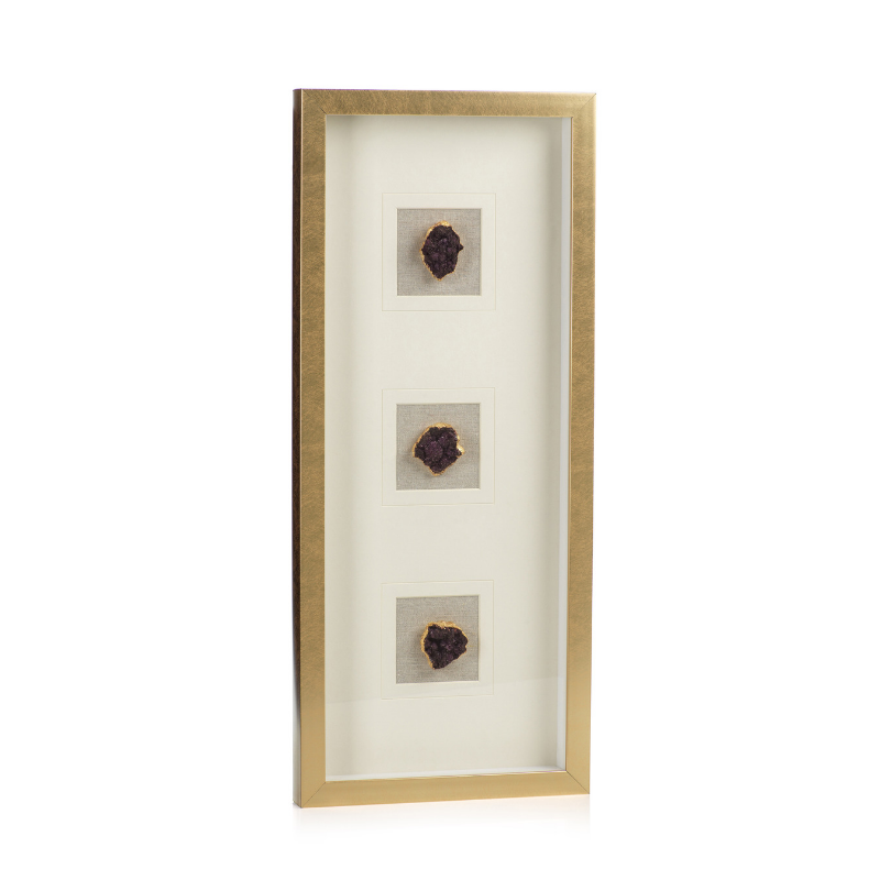 Gold Framed Amethyst Crystal - CARLYLE AVENUE