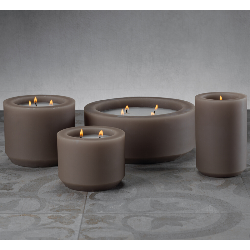 Naousa Bay Candle - Taupe - CARLYLE AVENUE