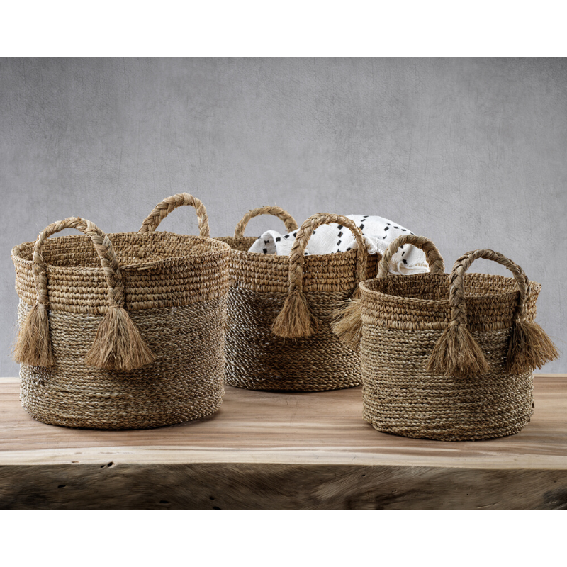 Barletta Set/3 Seagrass Baskets - CARLYLE AVENUE