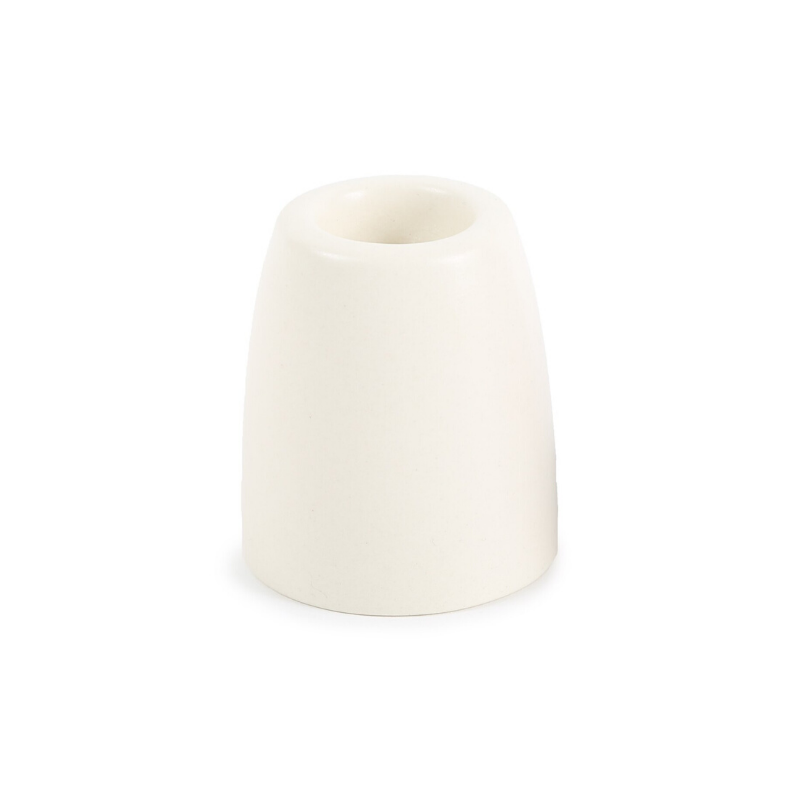 Petite Ceramic Taper Holders - Matte White - CARLYLE AVENUE