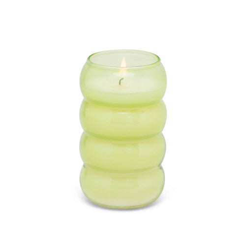 Bamboo Bubble Glass Candle - Green Tea & Melon