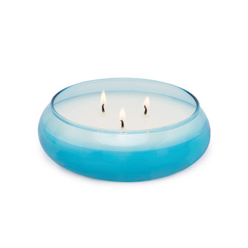 Haze Bubble Glass Candle Bowl - Driftwood & Misted Fig