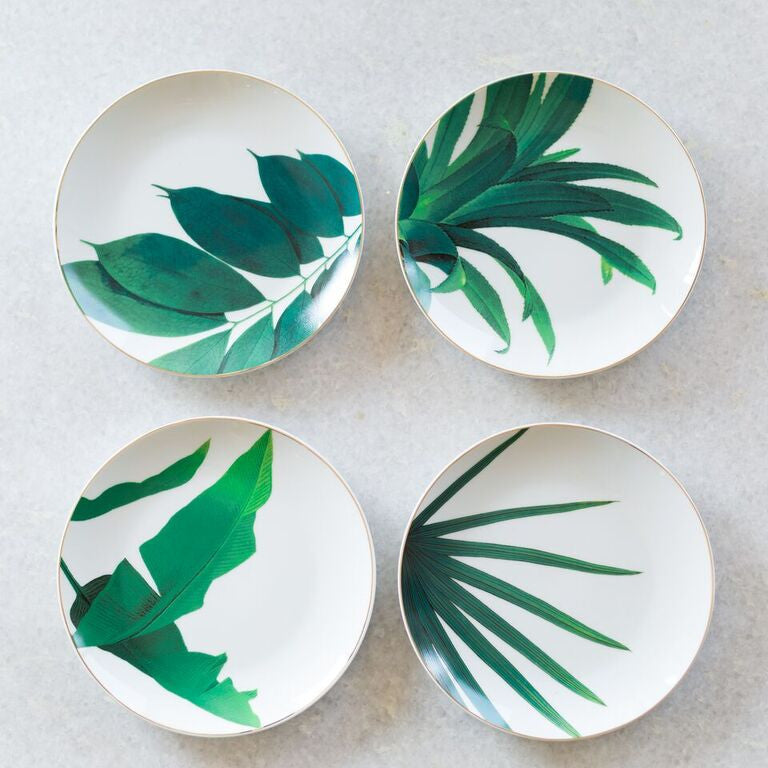 Set of Four Jetsetter Botanical Plates