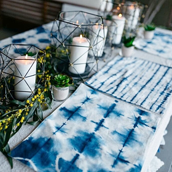 Indigo Dyed Placemats - CARLYLE AVENUE