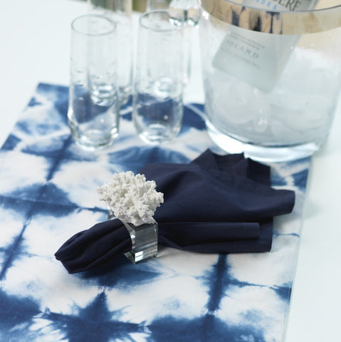 Blue Tie Dye Napkins - Set of 6