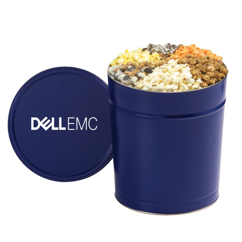 6 Way Deluxe Popcorn Sampler / 3.5 Gallon Tin