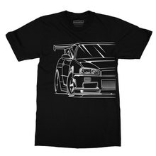 Load image into Gallery viewer, JDM Nissan Skyline R34 GTR Shirt. 7 Entries
