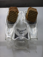 Corona Beer Bottle Party Platter - 3 Bottle Fused Glass Entertaining Tray