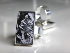 Recycled Grey Goose Bottle Silver Plated Ring