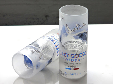 Grey Goose Shot Glass Made From Recycled Grey Goose Bottle