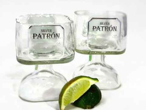Patron Tequila Bottle Margarita Drinking Glass