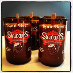 Hand Poured Root Beer Scented Soy Candle Stewarts Root Beer Bottle