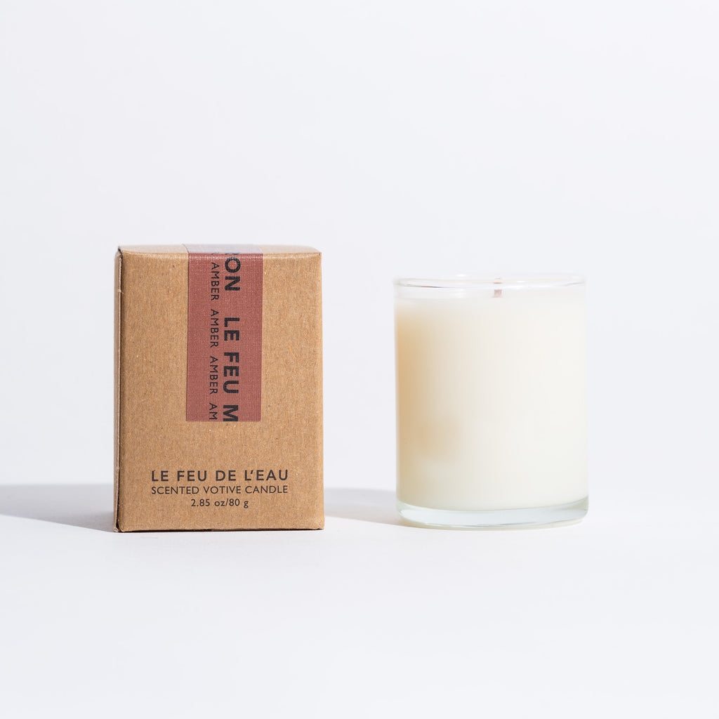 Le Feu De L'eau Votive Candle - Marron