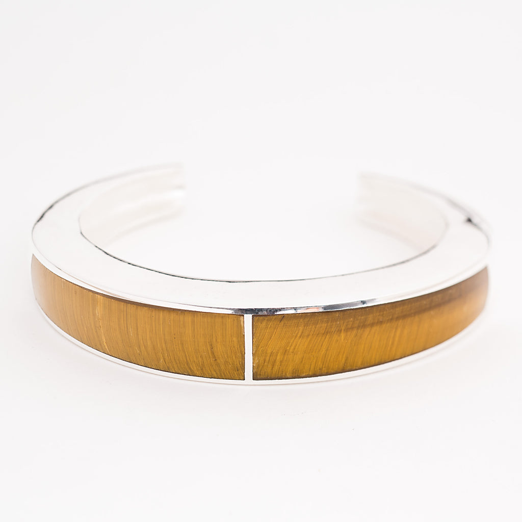 Pamela Love Classic Inlay Cuff - Silver/Tiger's Eye