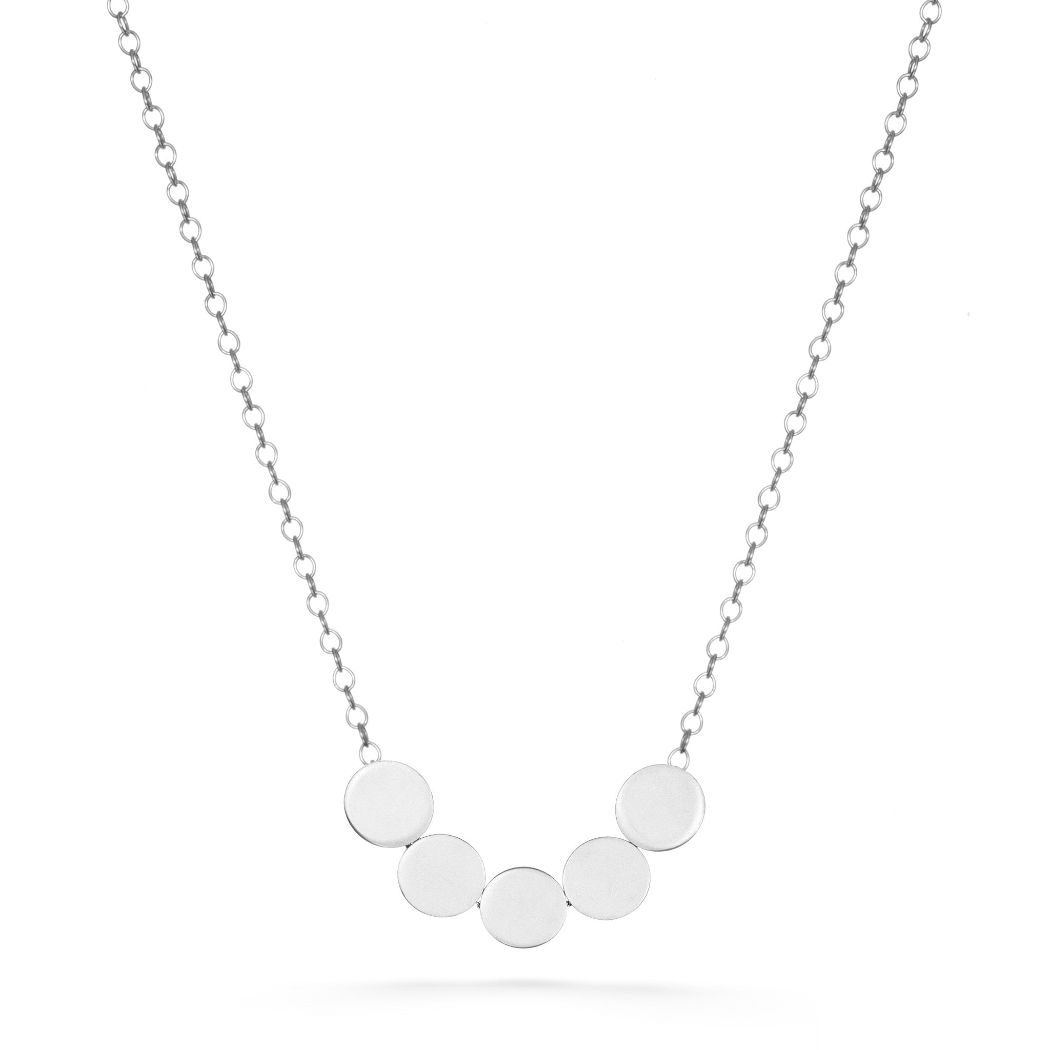 5 Dots Necklace - Silver