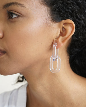 Catena Earrings - Clear