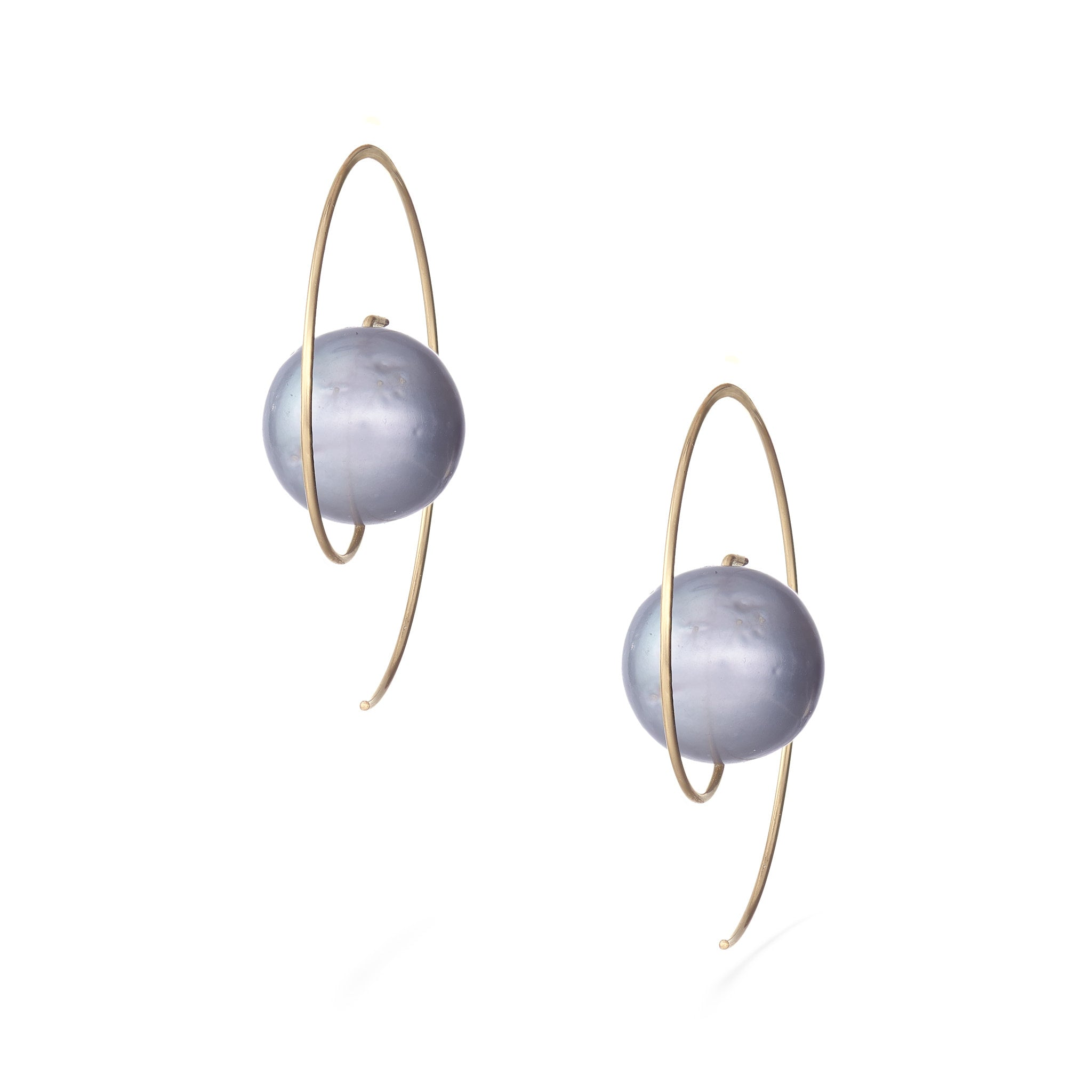 Nova Earrings - Grey