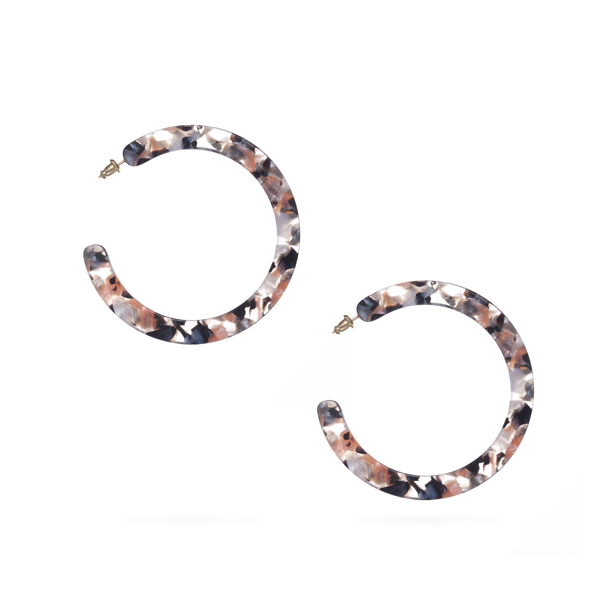 Large Slice Hoops - Koi