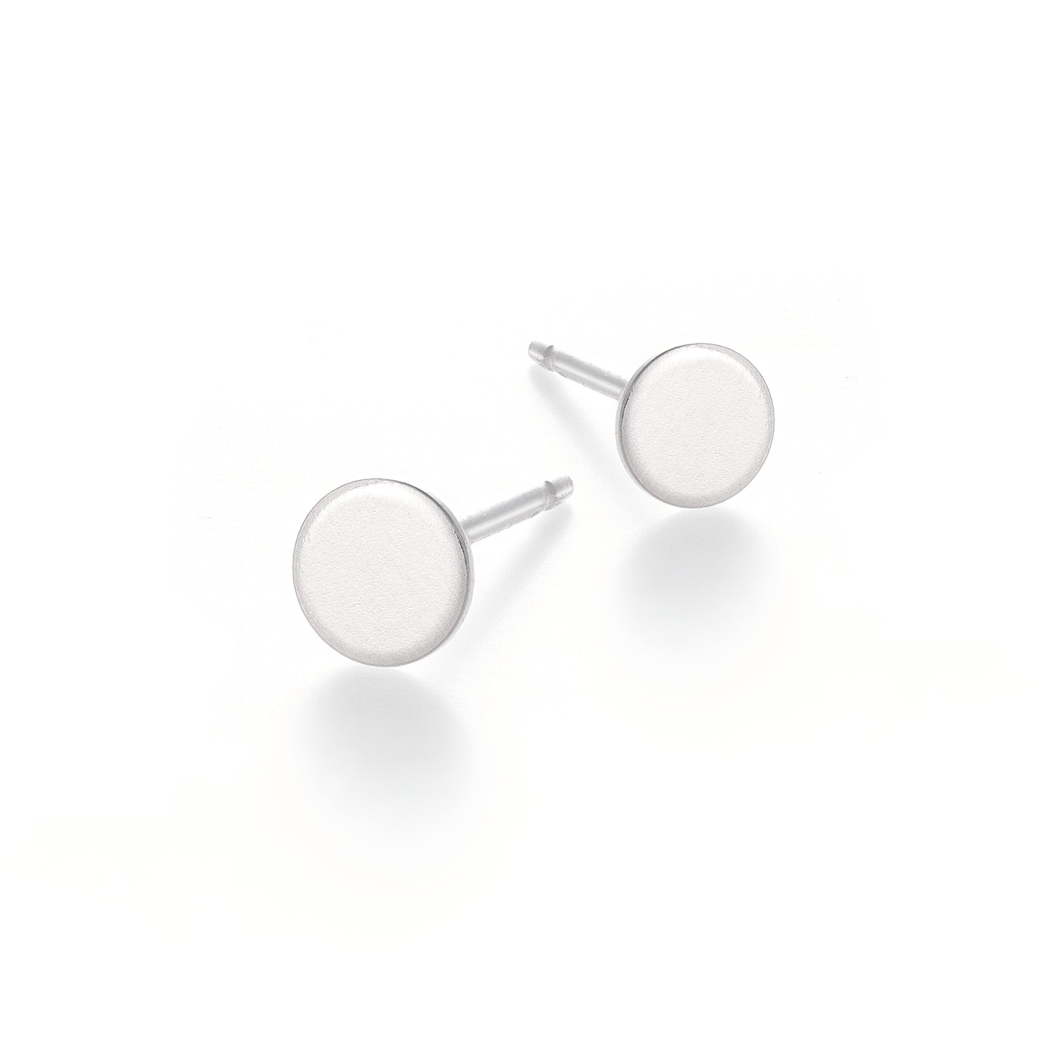 Teeny Tiny Circle Studs - Silver