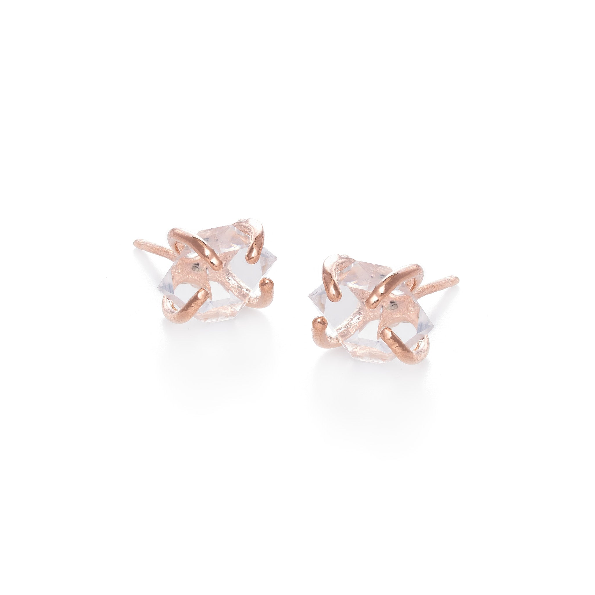 Rose Gold Herkimer Earrings