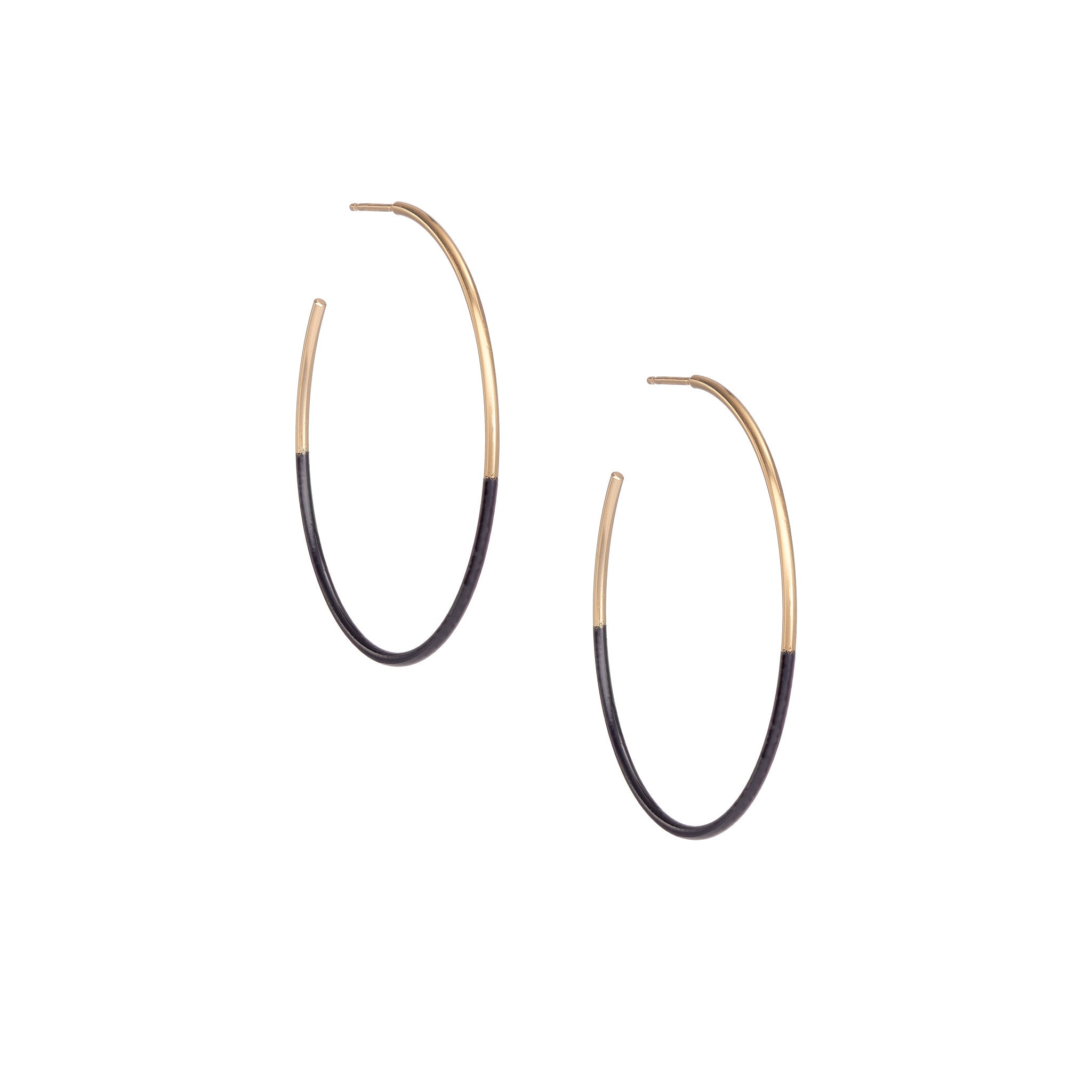Dipped Leen Hoops - Black