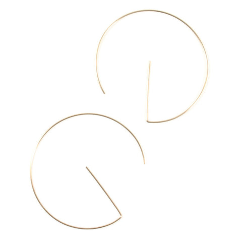 Gold G Hoops