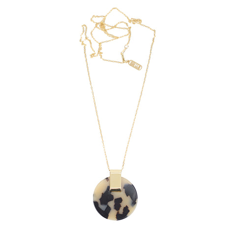 Iota Necklace - Beige Tort