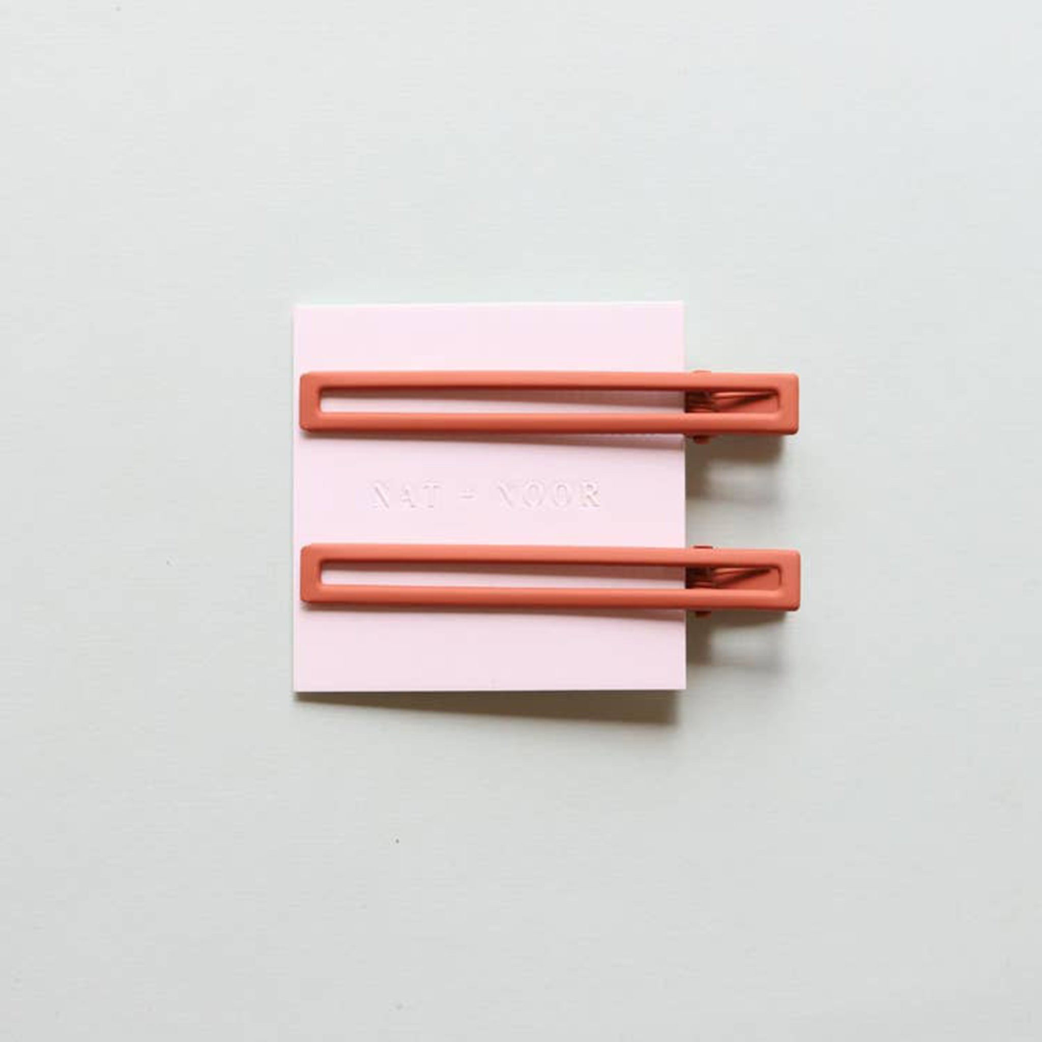 Long Square Clip Duo - Burnt Orange