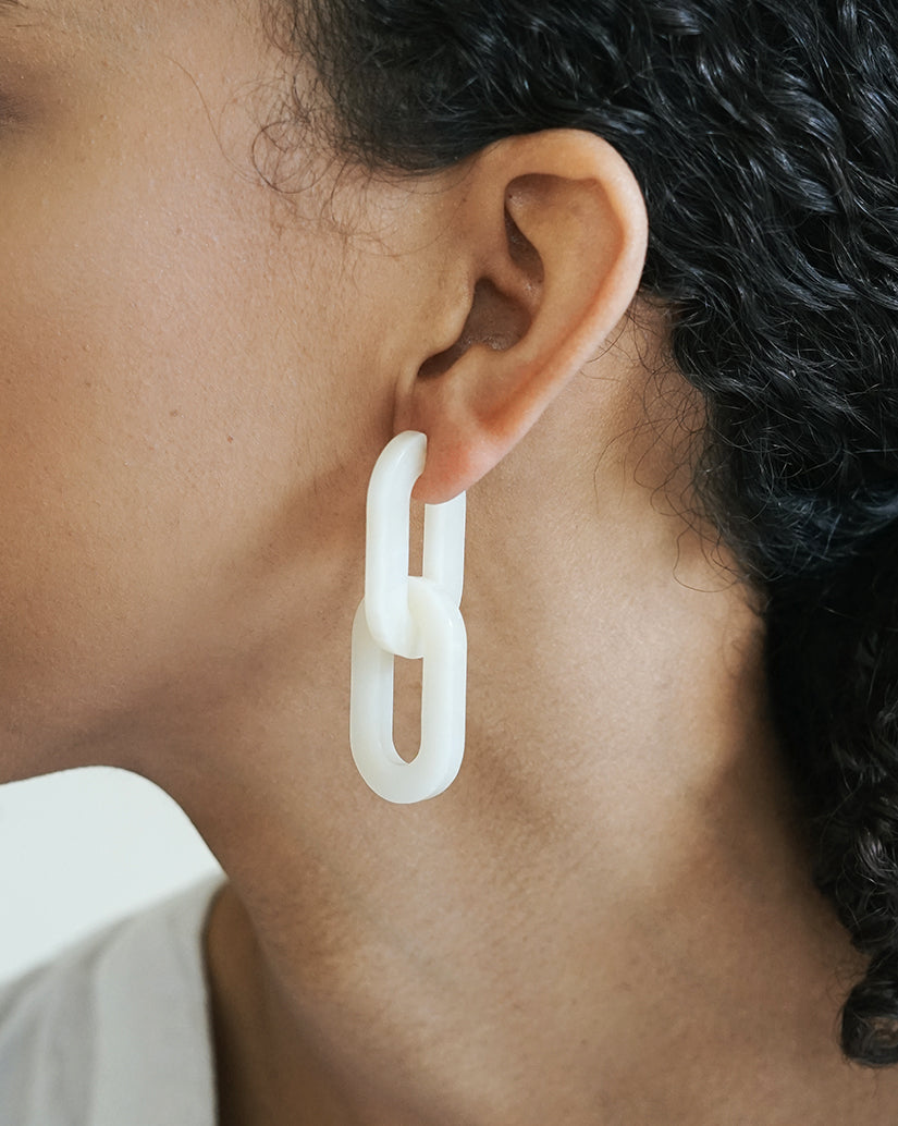 Catena Earrings - Linen