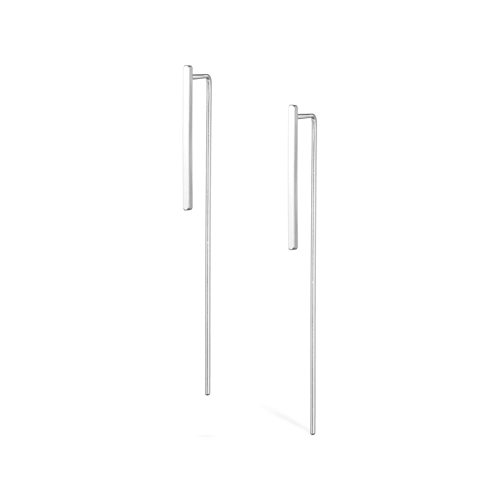 Long Tail Earrings - Silver