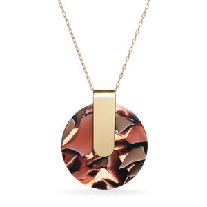 Iota Necklace - Rose Confetti