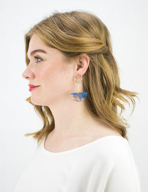 Lunette Earrings - Blue Haze
