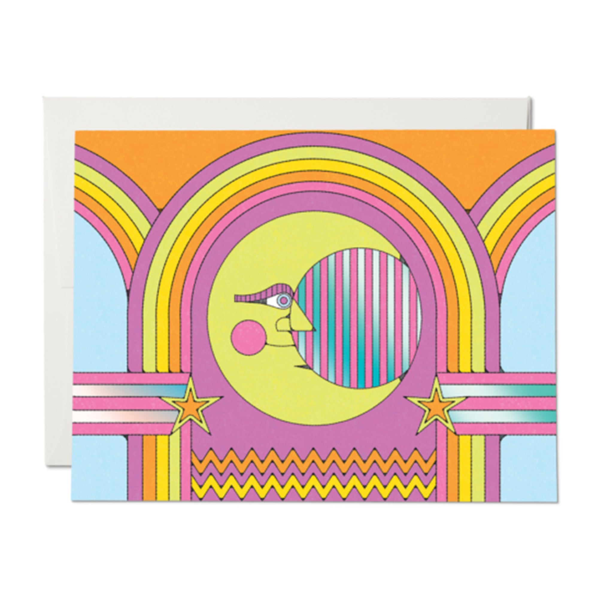 Moon and Rainbows Card