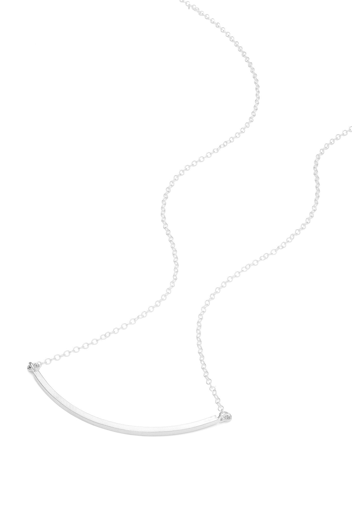 Small Curve Necklace - Silver