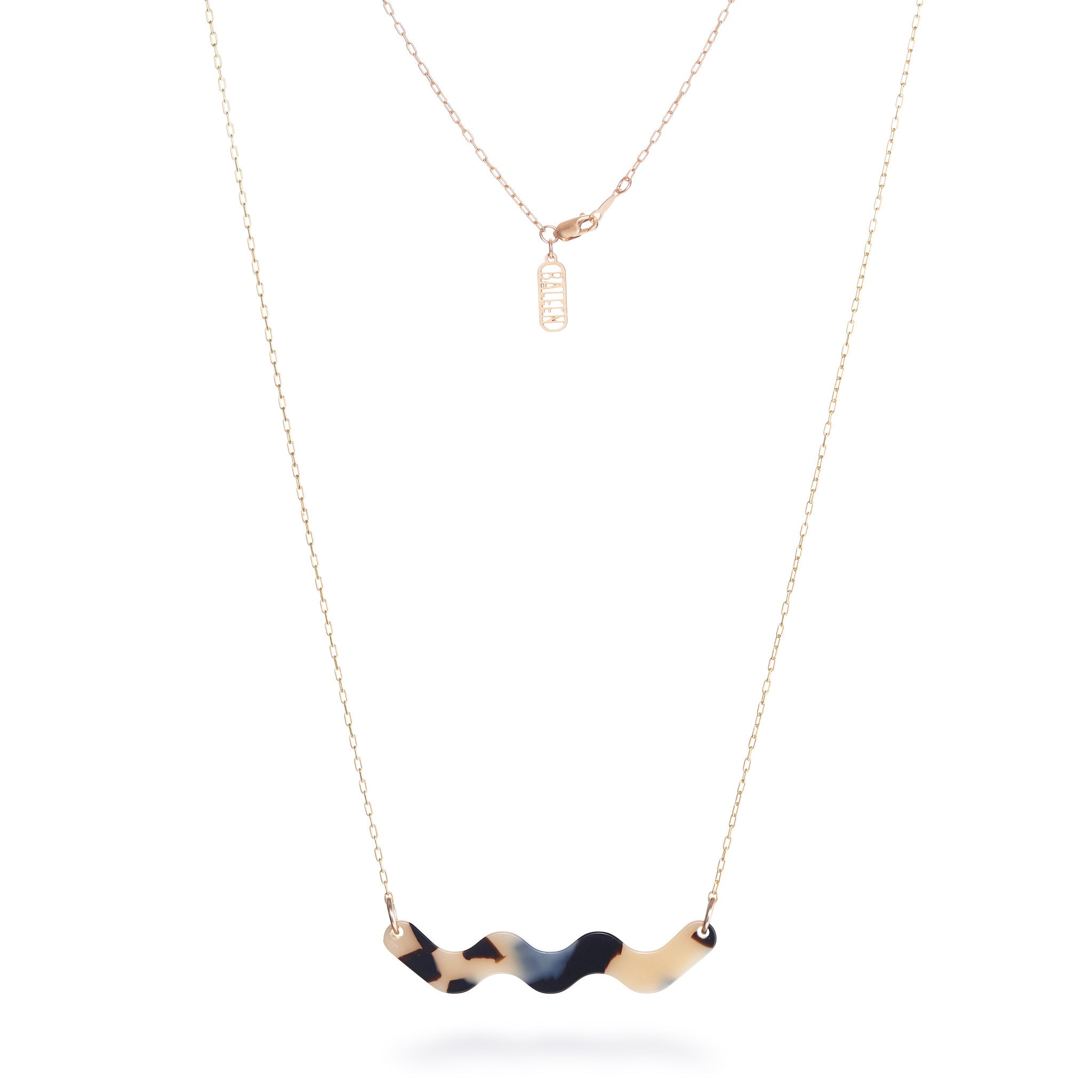 Motion Necklace - Beige Tort
