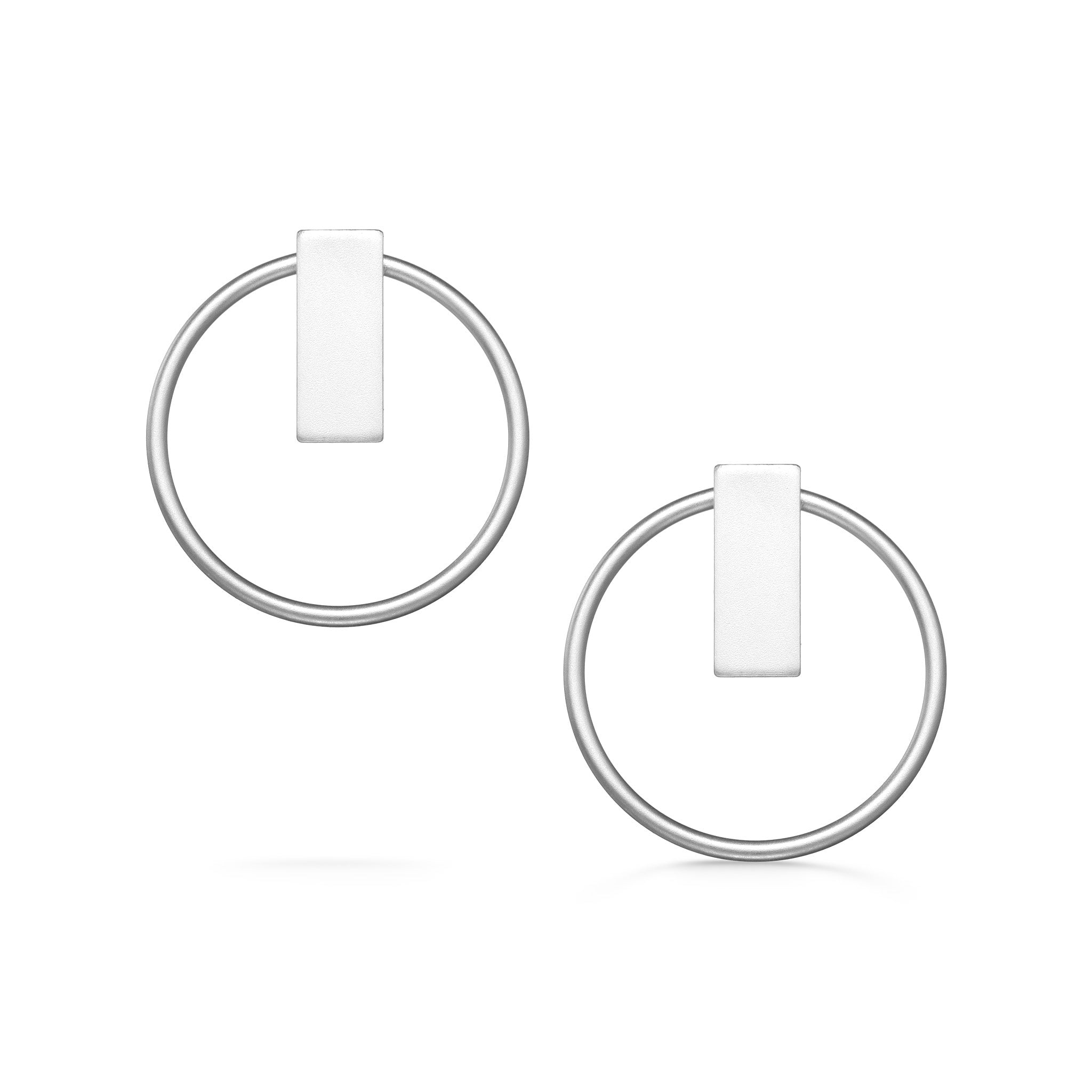 Open Duo Studs - Silver