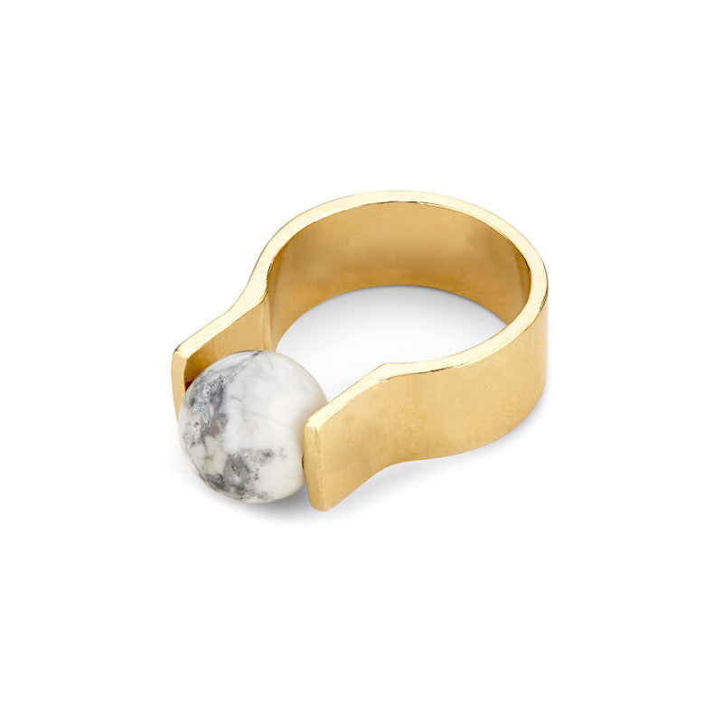 Orbit Ring - Howlite