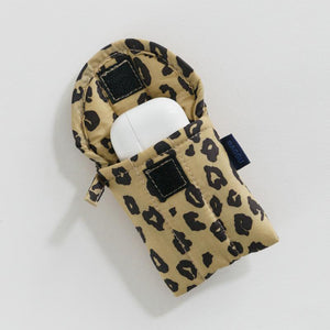 Puffy Earbuds Case - Honey Leopard