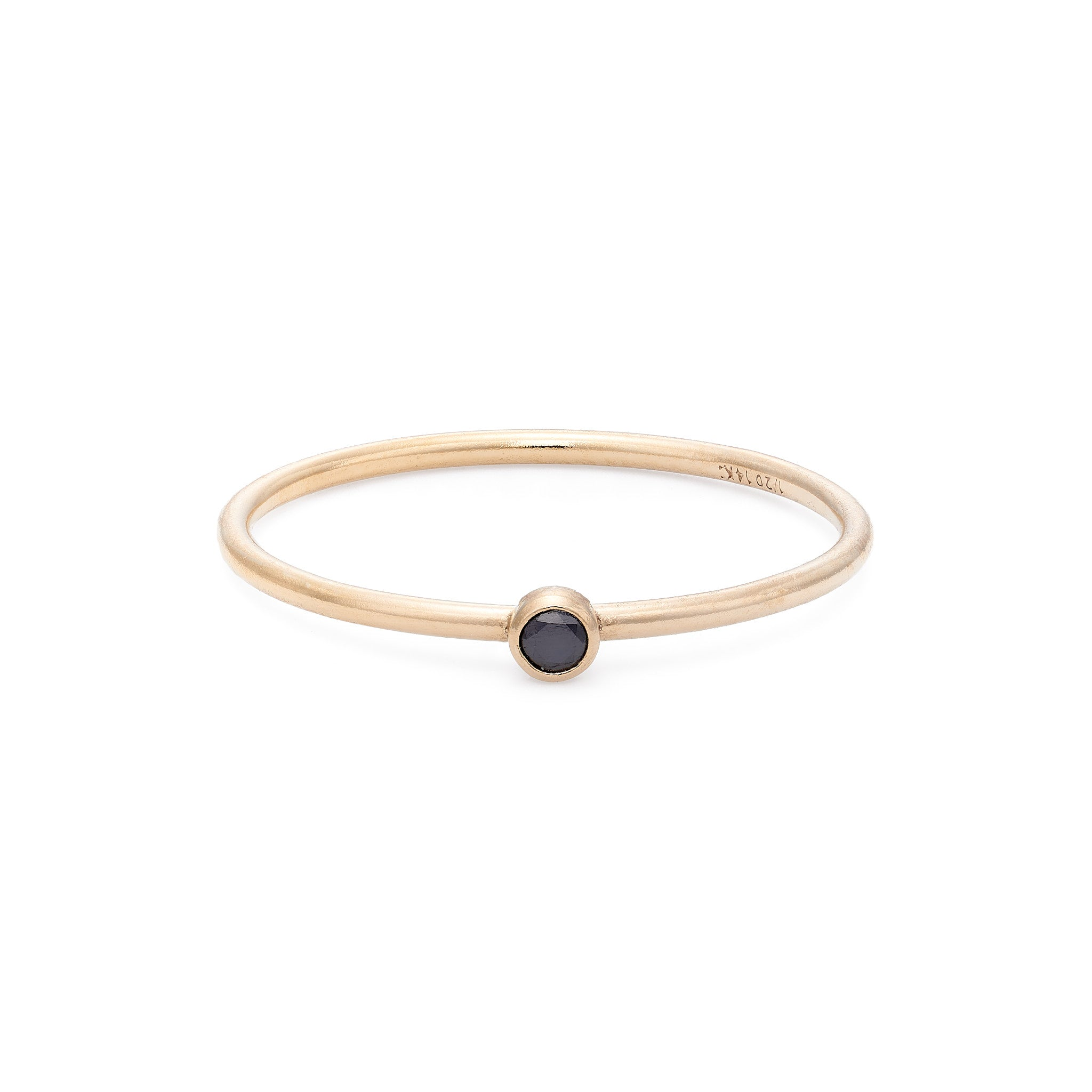 Black Spinel Stacking Ring