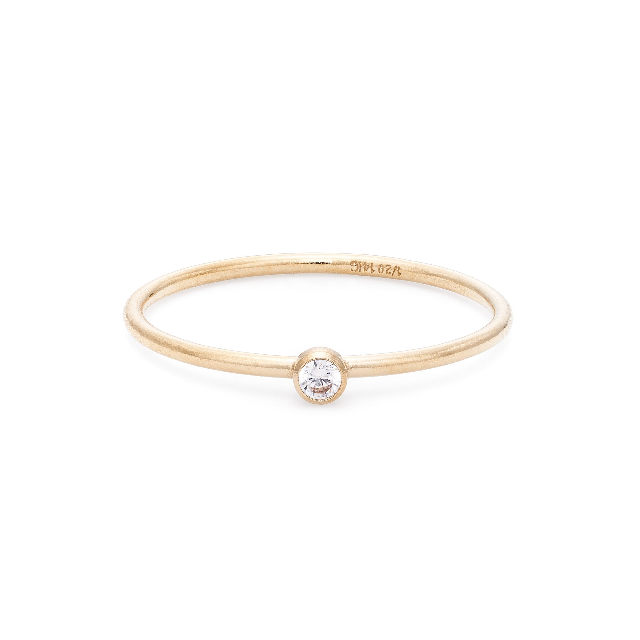 White Topaz Stacking Ring