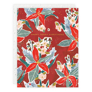 Red Poinsettia Card