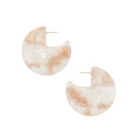 Meridian Earrings - Pink Shell