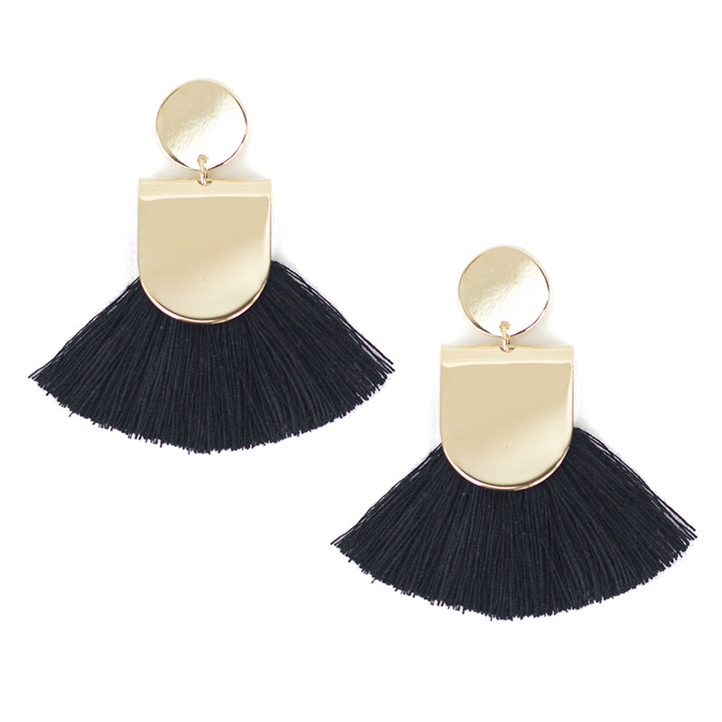 Shiny Pinna Earring - Black