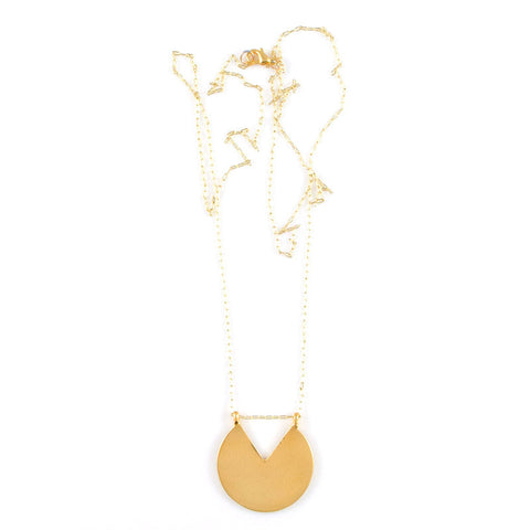 Subtracted V Necklace
