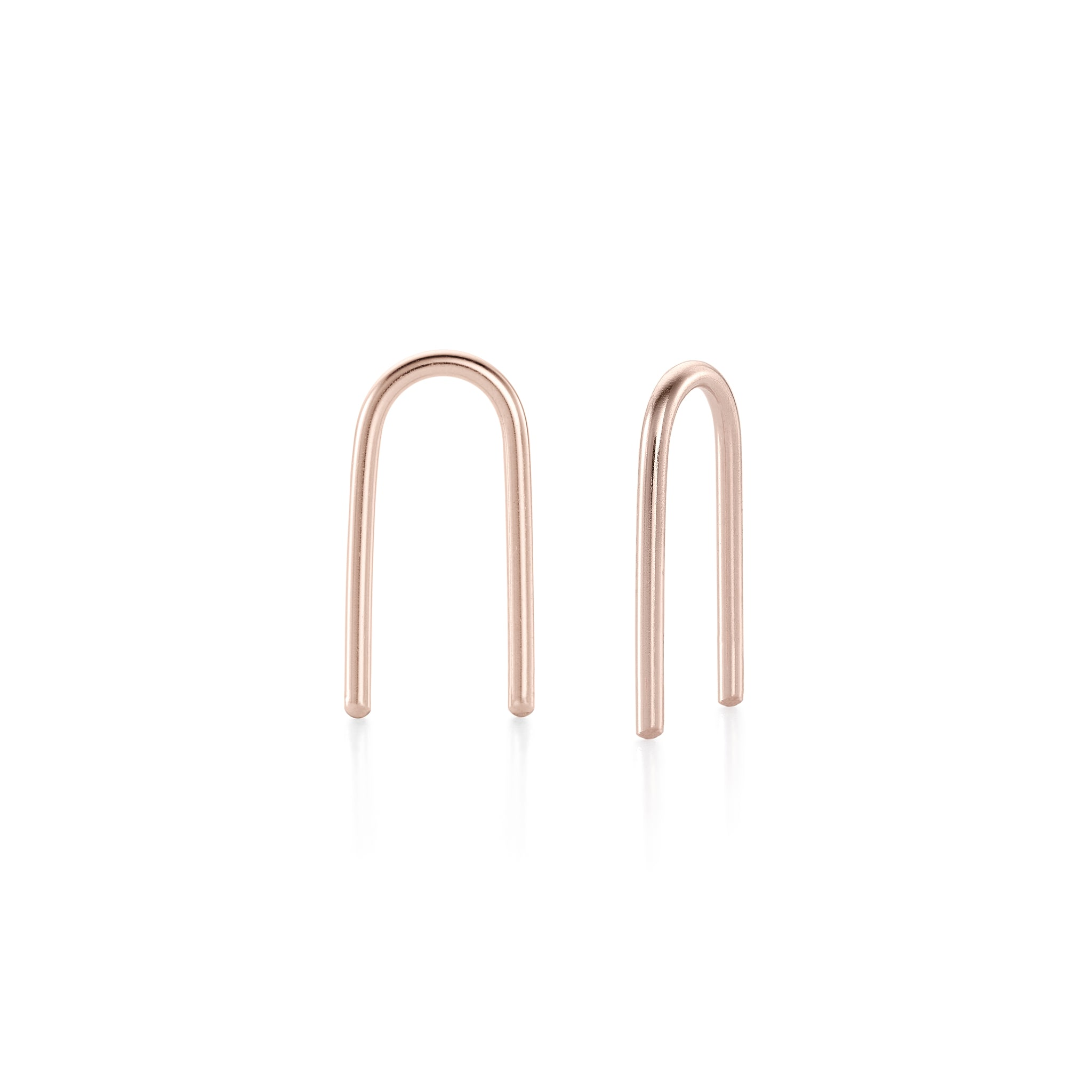U-Shaped Earrings - Rose Gold