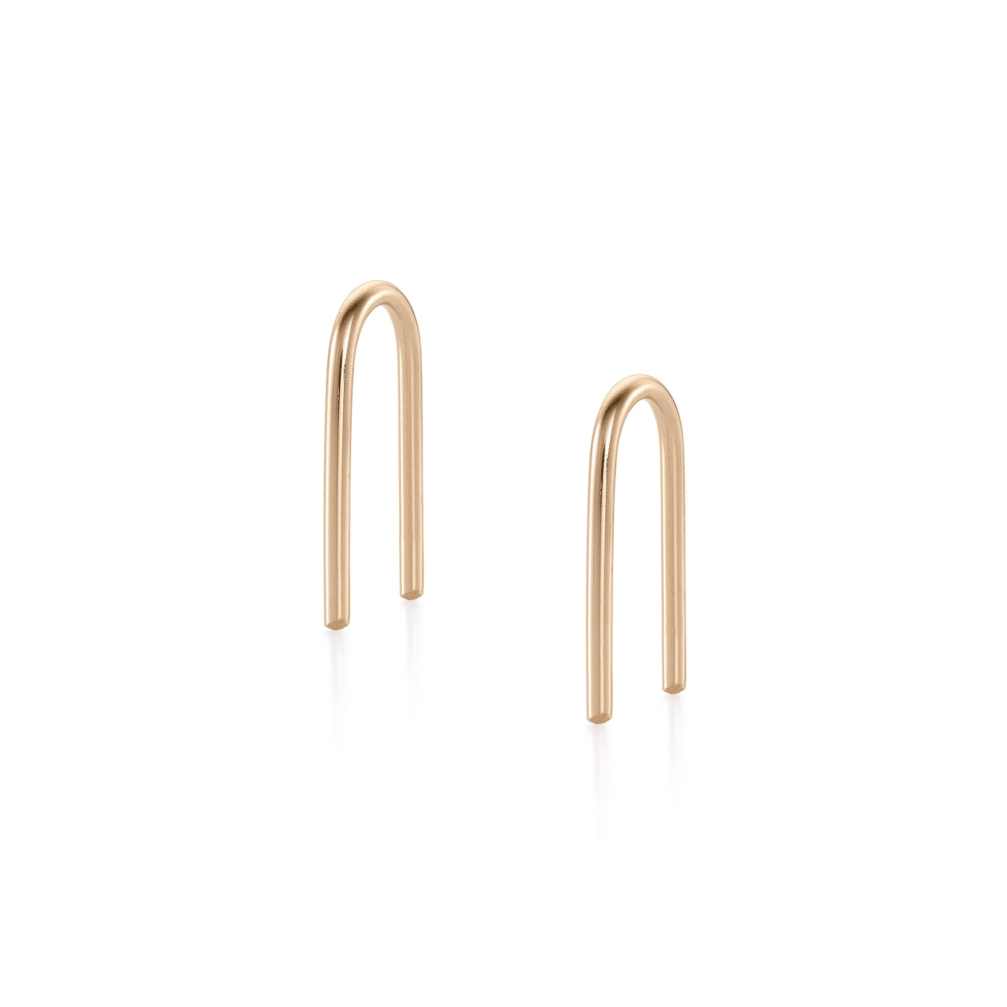U-Shaped Earrings - Gold